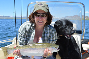 Rainbow Trout Catch at Spinney Mountain Reservoir During a Guided Stillwater Trip with the Blue Quill Angler